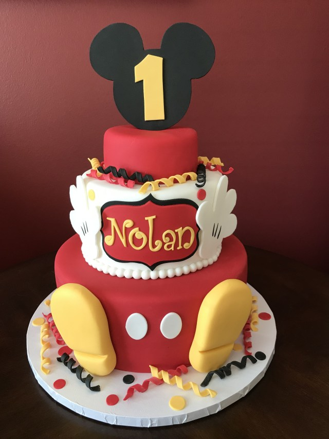 Mickey Mouse First Birthday Cake Mickey Mouse First Birthday Cake Birthday Cakes In 2018