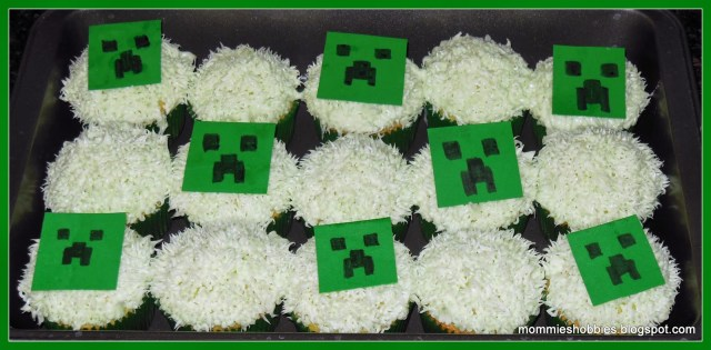 Minecraft Birthday Cake Toppers Mommies Hobbies Super Easy Minecraft Creeper Cupcake Toppers