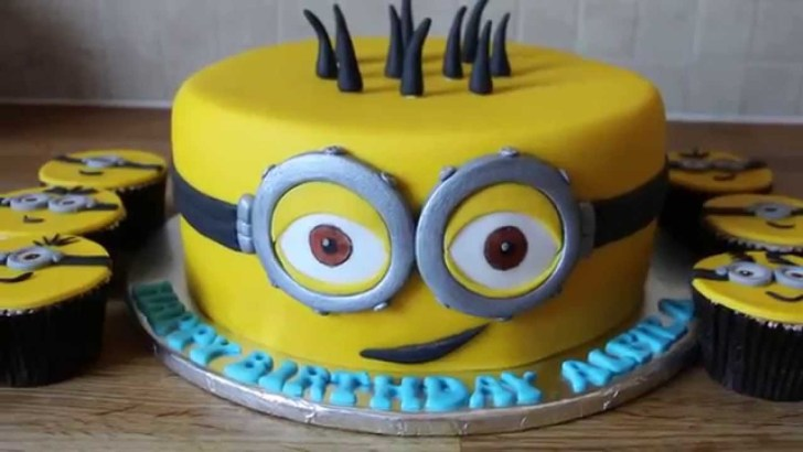 30 Creative Image of Minions Birthday Cake