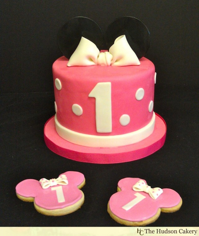 Minnie Mouse 1St Birthday Cake Minnie Birthday Cake Cookies The Hudson Cakery