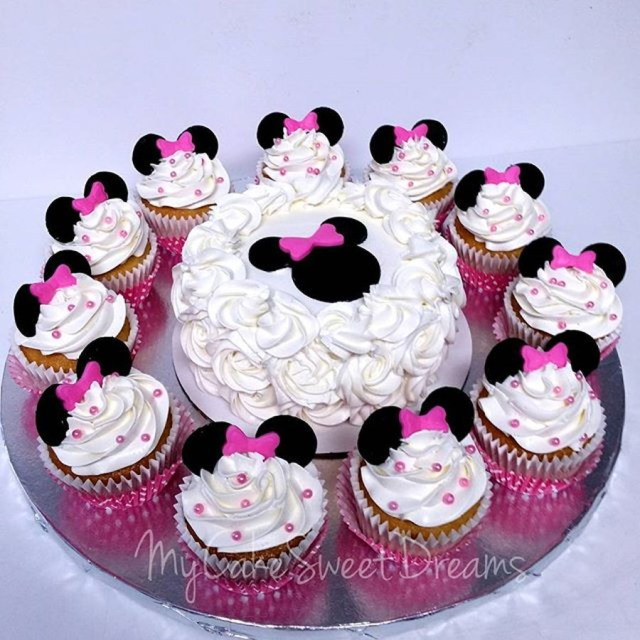 Minnie Mouse 1St Birthday Cake Minnie Mouse 1st Birthday Smash Cake Cupcakes Cakecentral