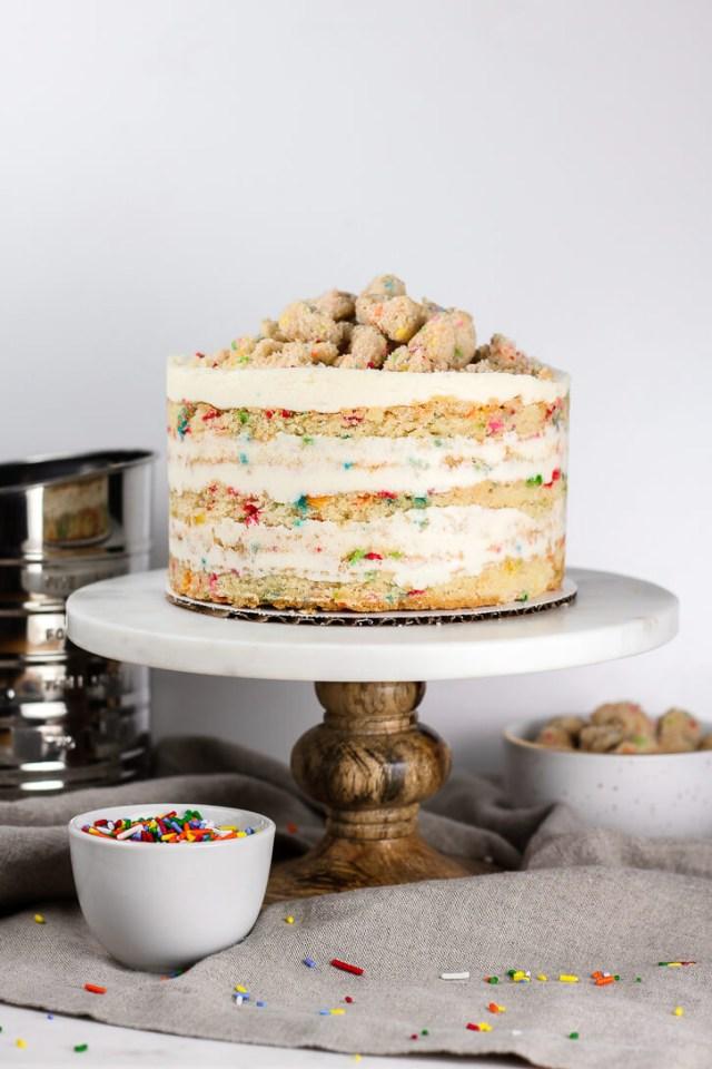 Momofuku Birthday Cake Copycat Milk Bar Birthday Cake Recipe Flour Covered Apron