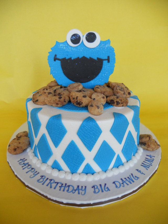 Monster Birthday Cake Cookie Monster Birthday Cake Amy Stella Flickr