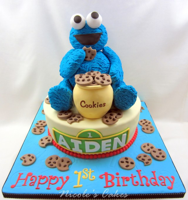 Monster Birthday Cake Cookie Monster Cakes Decoration Ideas Little Birthday Cakes