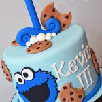 Monster Birthday Cake Cookie Monster Theme 1st Birthday Cake K Noelle Cakes Cakes
