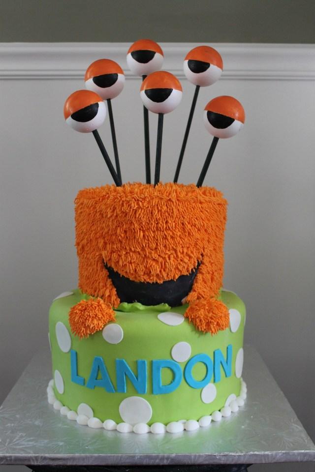 Monster Birthday Cake Monster Cake Bday Ideas Pinterest Birthday 1st Birthdays And