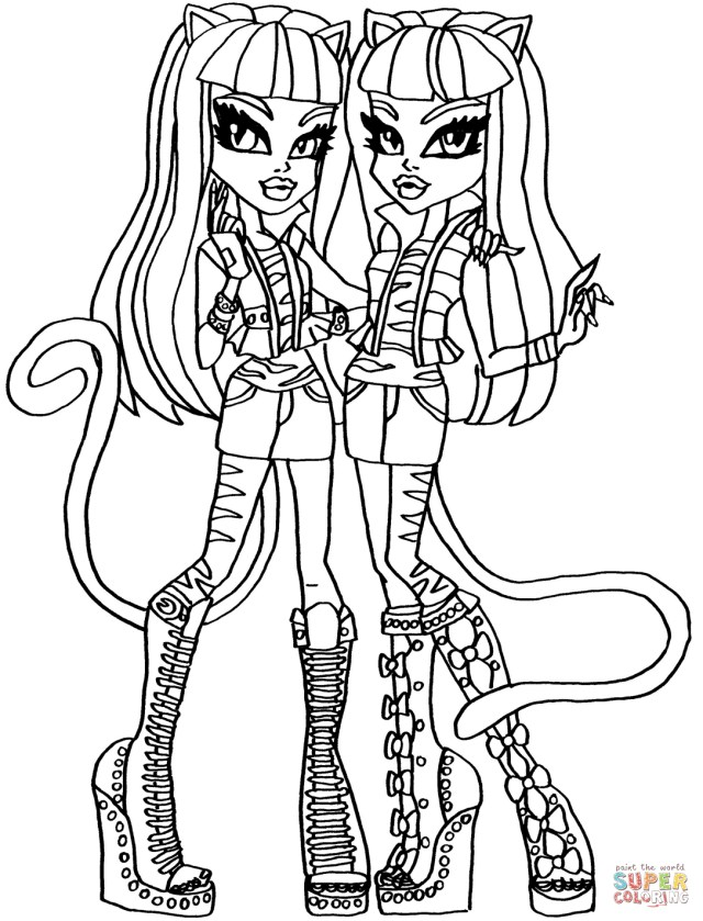 Monster High Coloring Page Monster High Coloring Pages Free Coloring Pages