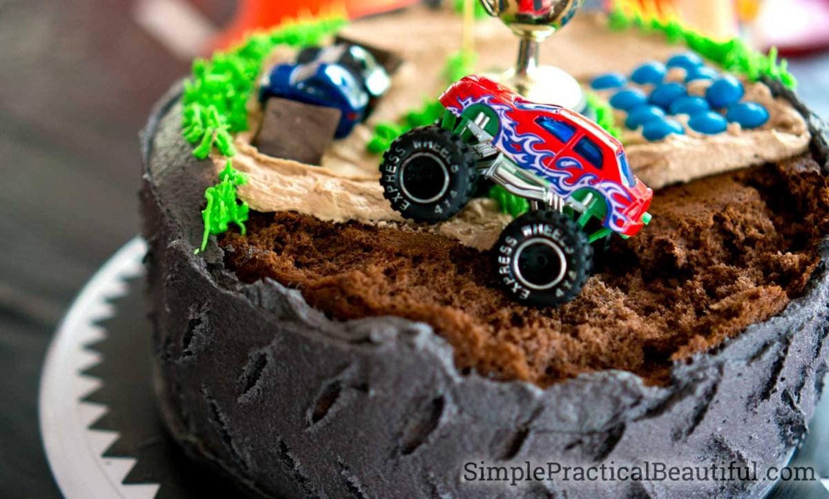 Monster Jam Birthday Cake Monster Truck Birthday Party Simple Practical Beautiful