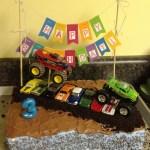 Monster Jam Birthday Cake Whimsikel Monster Truck Birthday Cake
