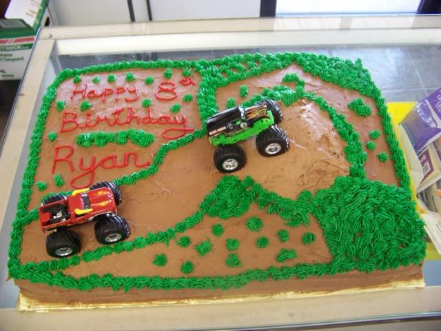 Monster Truck Birthday Cakes Monster Truck Birthday Cake A 12 Sheet Chocolate Cake Cov Flickr