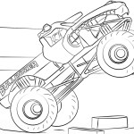 Monster Truck Coloring Pages Bulldozer Monster Truck Coloring Page Free Printable Coloring Pages