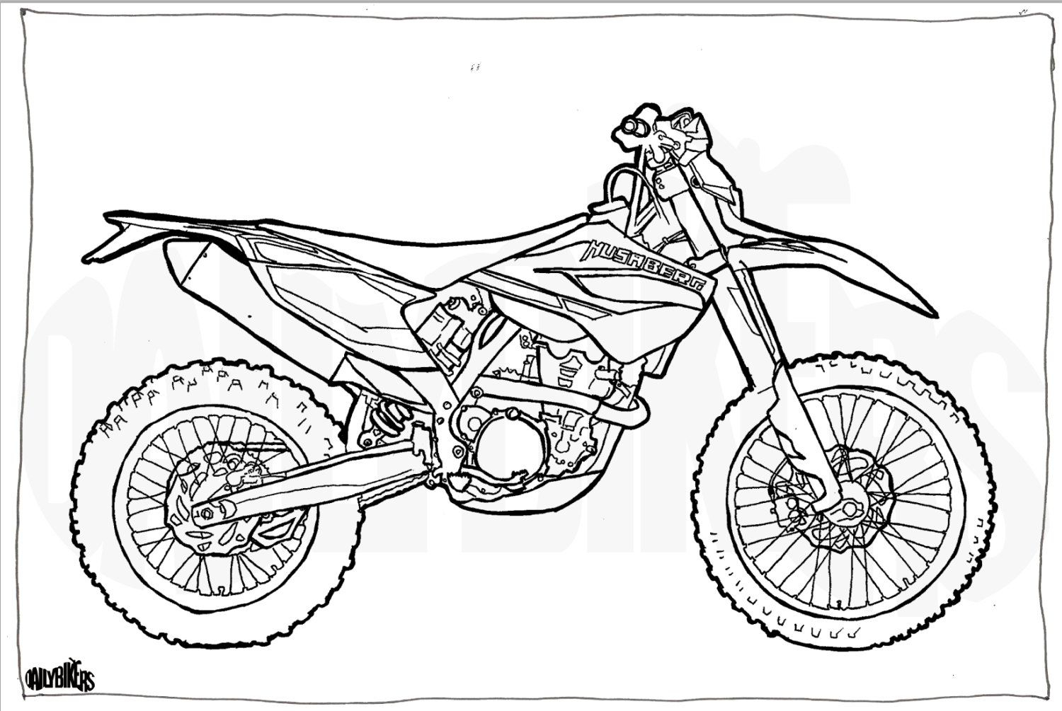Motorcycle coloring pages coloring pages of motorcycles husaberg te350 motorcycle colouring