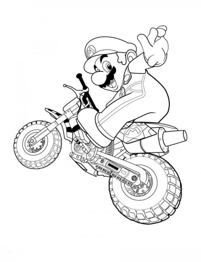 Motorcycle Coloring Pages Motorcycle Color Pages Super Mario Coloring Pages 01 Work Pinterest