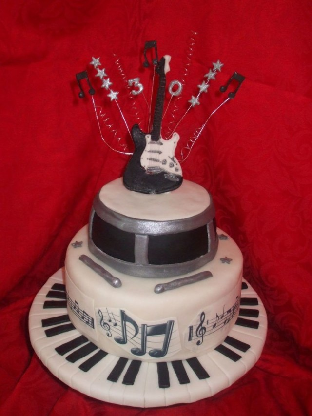 Music Birthday Cakes 30th Musical Birthday Cake Cakecentral