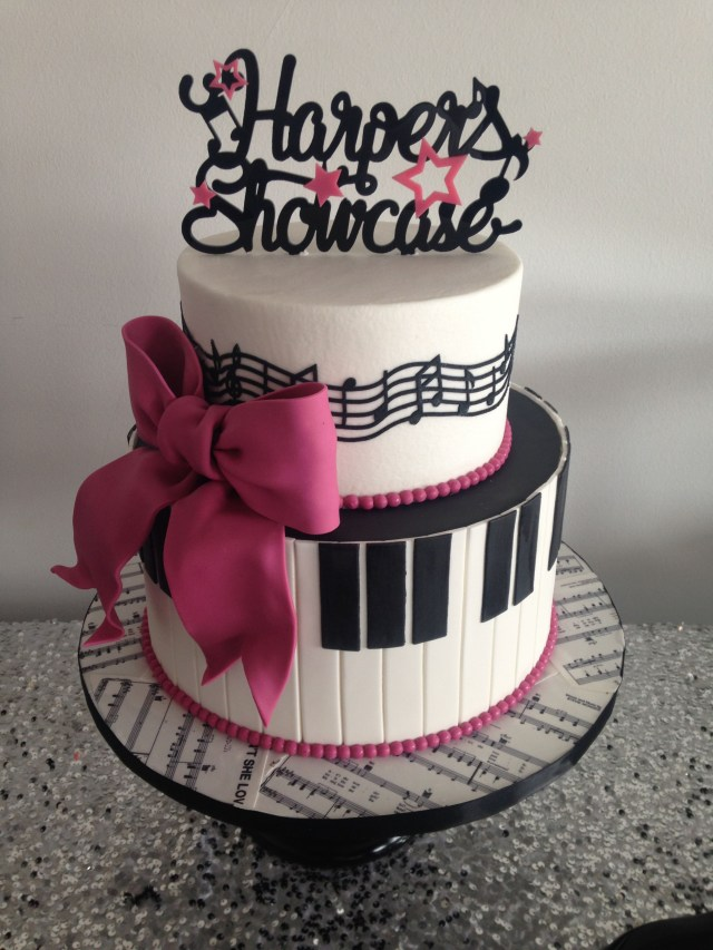Music Birthday Cakes For The Love Of Music Little Girls Birthday Piano Keys And Music