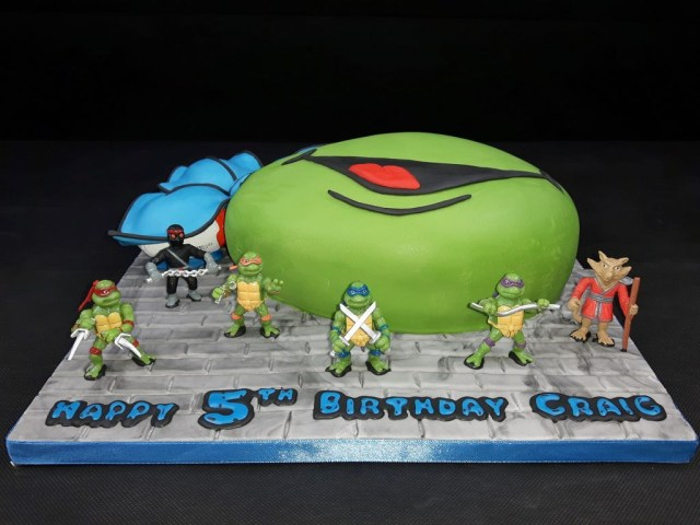 Ninja Turtles Birthday Cake Teenage Mutant Ninja Turtle Cake 6 Steps With Pictures