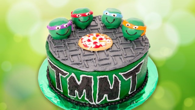 Ninja Turtles Birthday Cake Teenage Mutant Ninja Turtles Cake From Cookies Cupcakes And Cardio