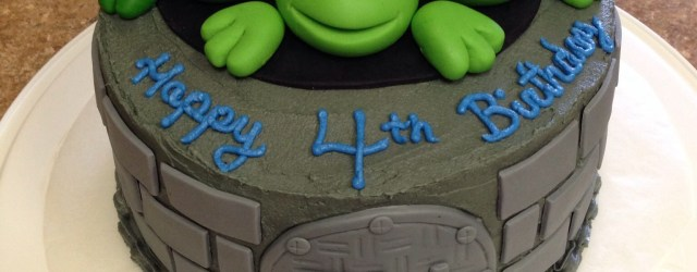 Ninja Turtles Birthday Cake Tmnt Cake I Made For My Sons 4th Birthday I Used Fondant For The