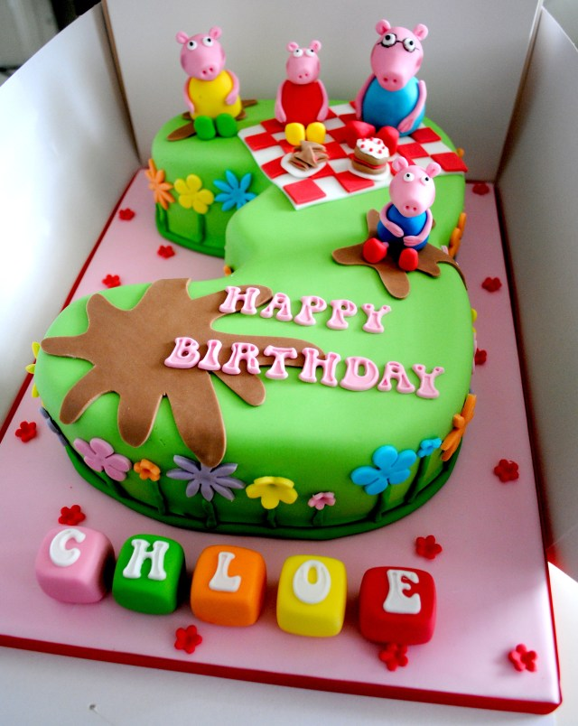 Number Birthday Cakes Miss Cupcakes Blog Archive Peppa Pig Picnic Number Cake