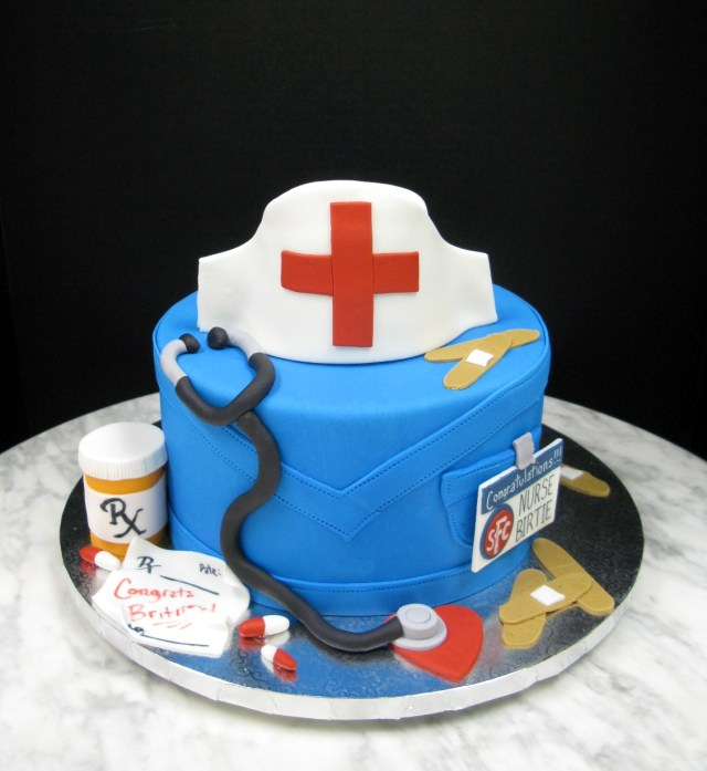 Nurse Birthday Cake Hello Nurse Mother Mousse