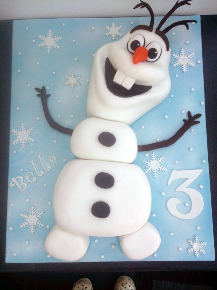 30 Marvelous Picture of Olaf Birthday Cake
