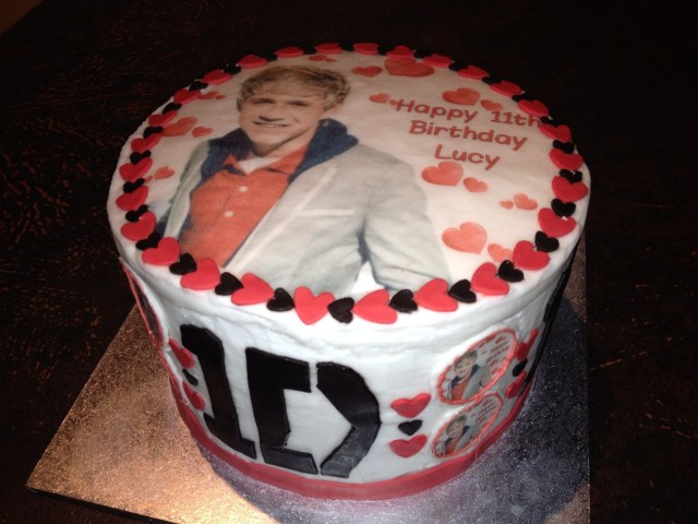 One Direction Birthday Cake One Direction Birthday Cake Niall Horan One Direction