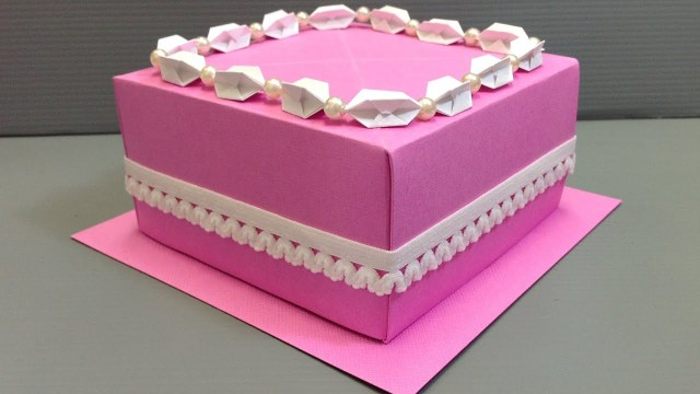 Origami Birthday Cake Origami Wedding Birthday Cake Display Gift Box Youtube