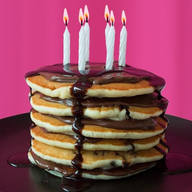 Pancake Birthday Cake De Wafelbakkers Frozen Pancakes Dwbpancakes