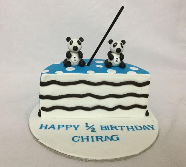Panda Birthday Cake Online Customized Cakes Delivery I Bangalore L Theme Cakes L Miras