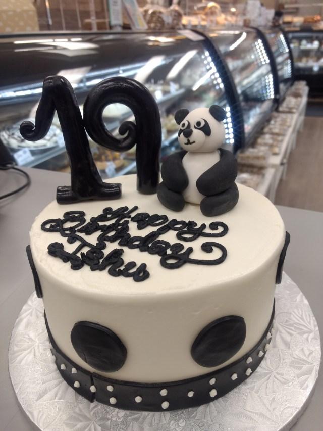 Panda Birthday Cake Panda Bear Theme Birthday Cake Goodies Winnipeg Bakery