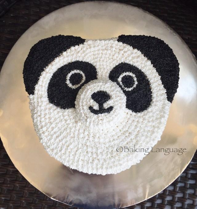 Panda Birthday Cake Panda Birthday Cake Chocolate Banana Mousse Baking Language