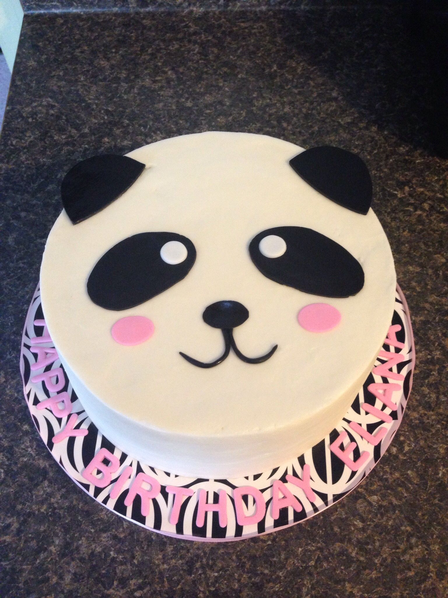 Panda Birthday Cake Panda Cake Lillies Birthday Pinte