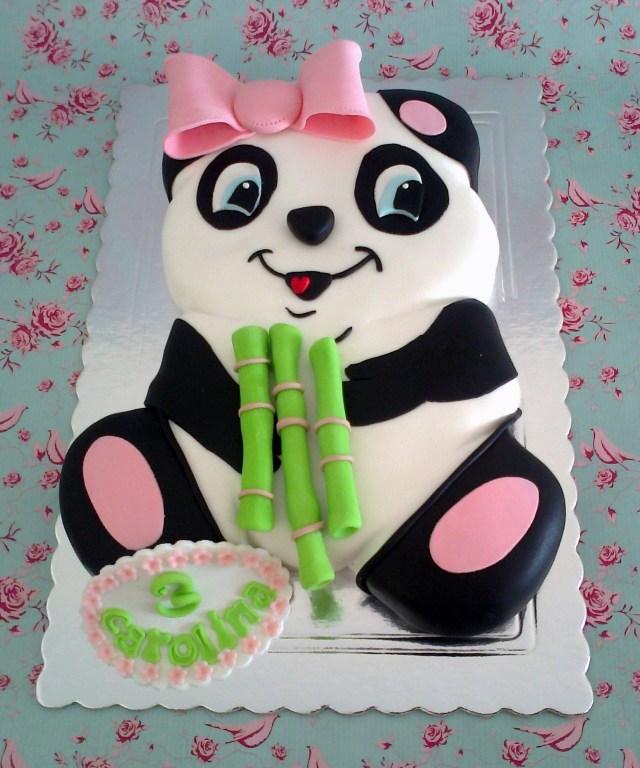 Panda Birthday Cake Panda Cake To Cute Ba Pinterest Panda Cakes Cake And