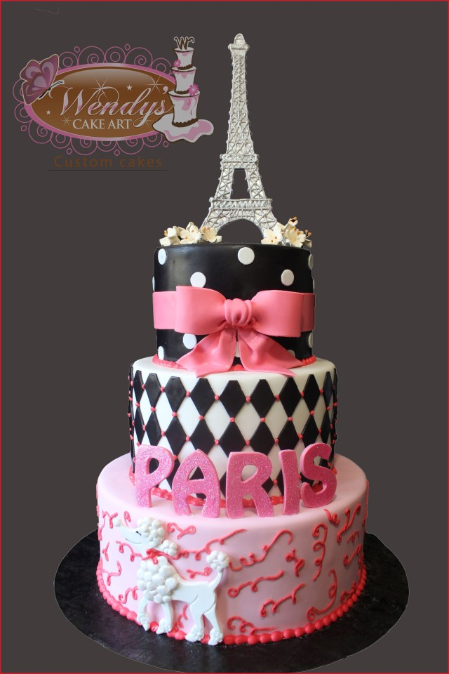 Paris Birthday Cakes Paris Birthday Cake 71960 Paris Theme Cake From Wendyscakeart Cakes