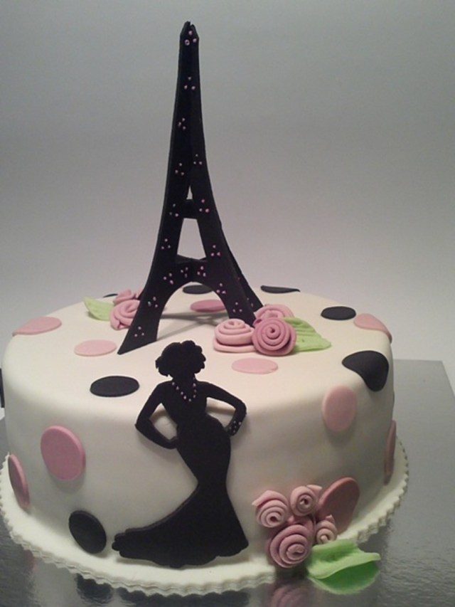 Paris Birthday Cakes Paris Birthday Cake For My Daughter Cakecentral