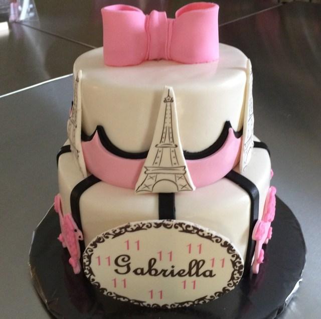 Paris Birthday Cakes Paris Birthday Cake