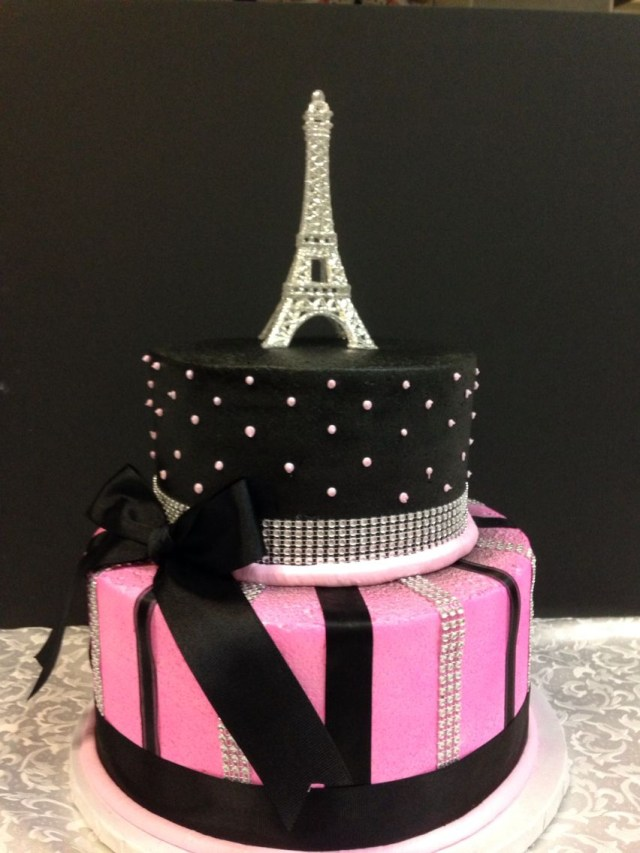 Paris Birthday Cakes Paris Cake Cakes Pinte