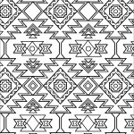 Pattern Coloring Pages Aztec Pattern Coloring Page Free Printable Coloring Pages