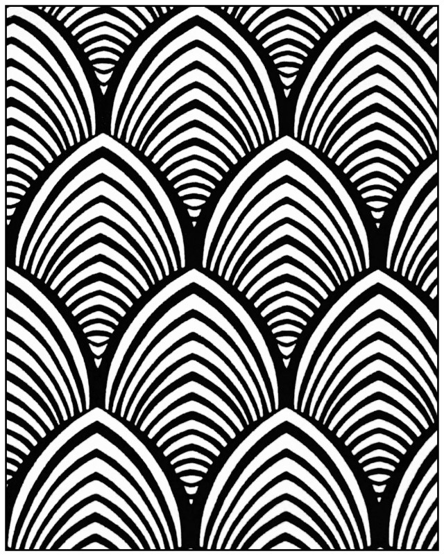 Pattern Coloring Pages Geometric Patterns Art Deco 4 Art Deco Adult Coloring Pages