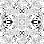Pattern Coloring Pages Rosette Intricate Patterns Coloring Pages Hellokids