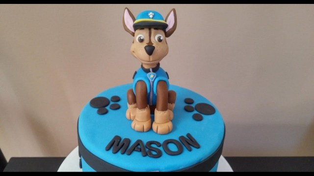 Paw Patrol Birthday Cake Toppers 2nd Birthday Cake Topper Paw Patrol Chase Cake Tutorial Youtube