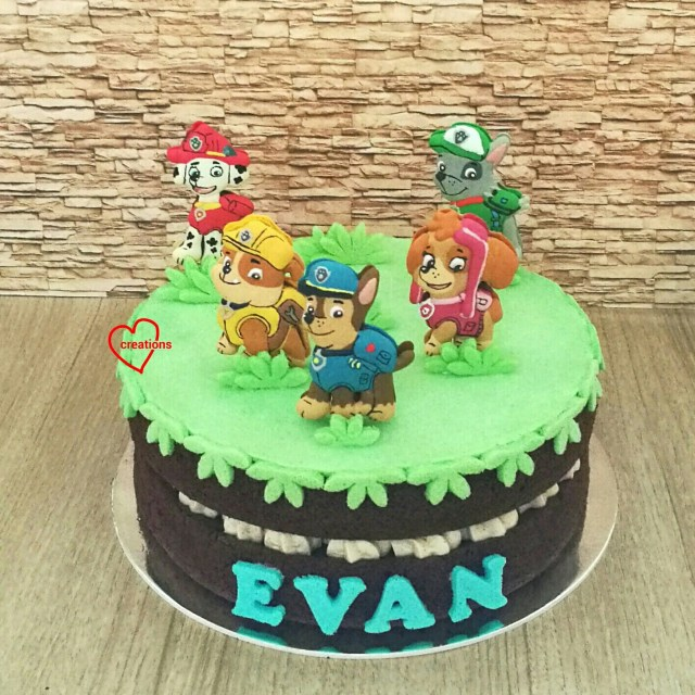 Paw Patrol Birthday Cake Toppers Loving Creations For You Paw Patrol Chocolate Cake With Vanilla