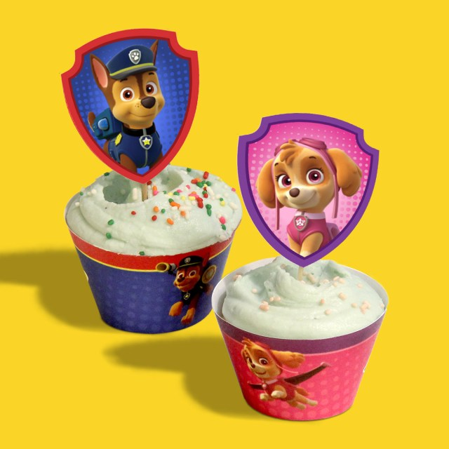 Paw Patrol Birthday Cake Toppers Paw Patrol Birthday Party Cupcake Wrappers Nickelodeon Parents