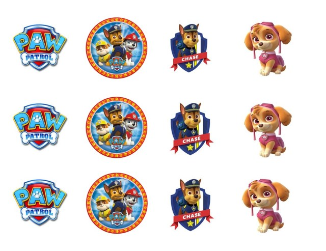 Paw Patrol Birthday Cake Toppers Paw Patrol Cupcake Toppers Edible Images