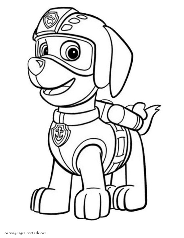 Paw Patrol Coloring Pages Paw Patrol Coloring Pages To Print Zuma Paw The Art Jinni