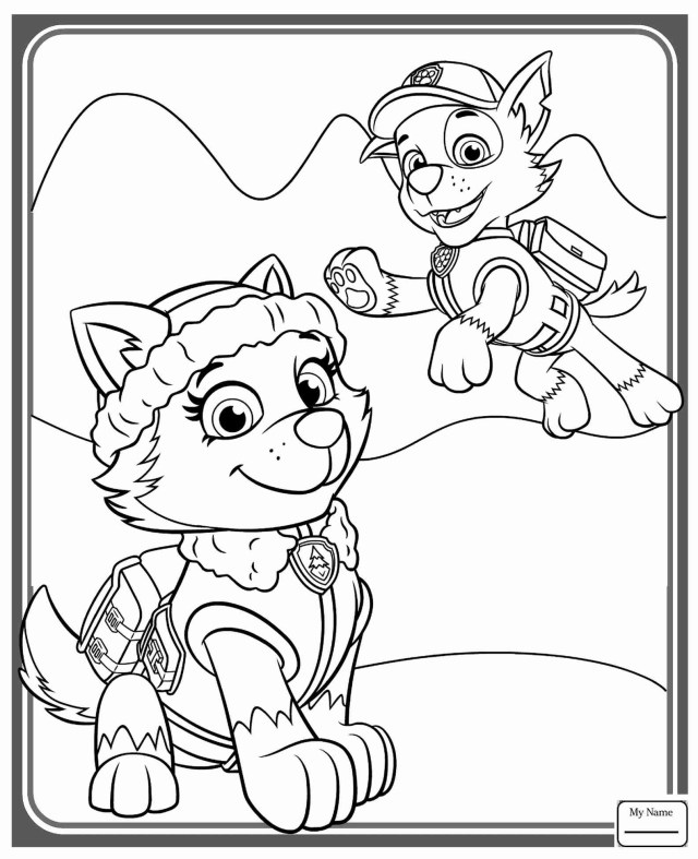 Paw Patrol Coloring Pages Printawatrol Everest Coloringages Brandons 3rd Birthday Beautifulage
