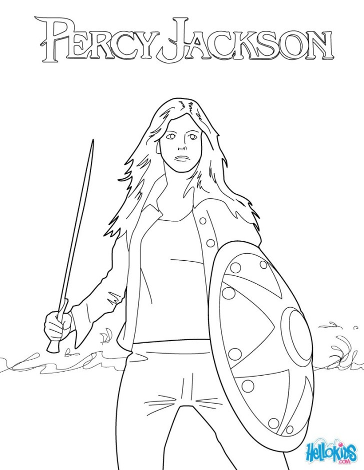 27+ Wonderful Picture of Percy Jackson Coloring Pages