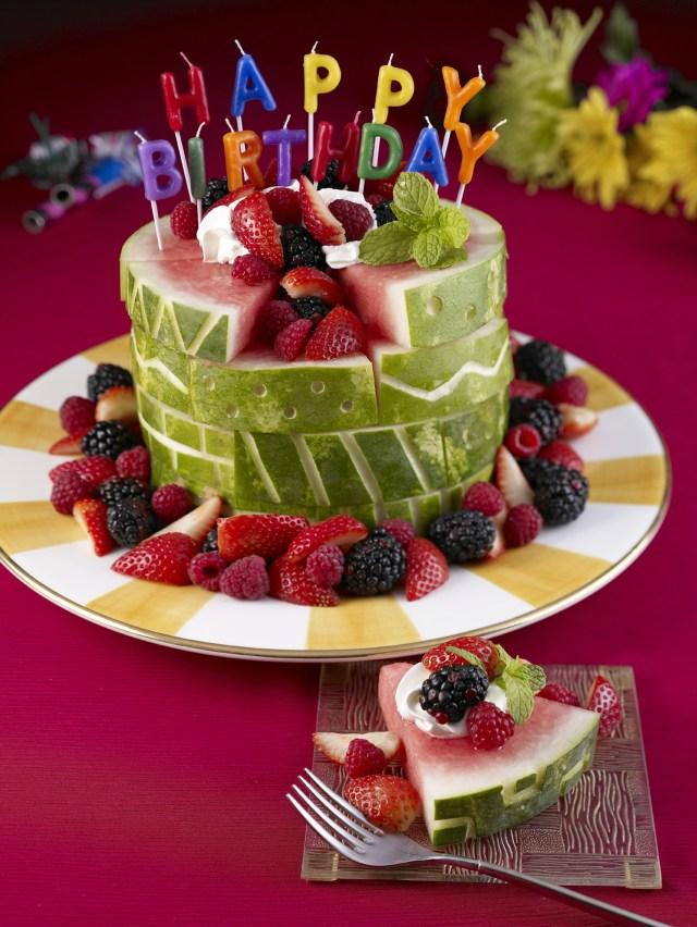 Photo Birthday Cake Watermelon Board Birthday Cake