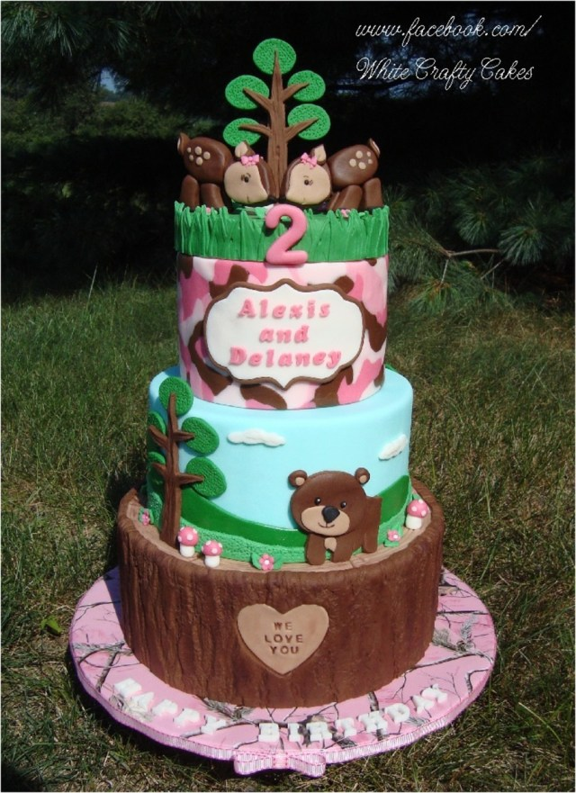 Pink Camo Birthday Cakes Pink Camowoodland Themed Cake Cakecentral