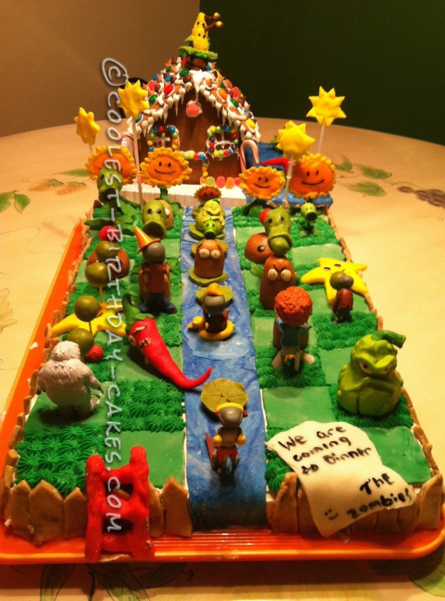 Plants Vs Zombies Birthday Cake Coolest Plants Vs Zombies Cake